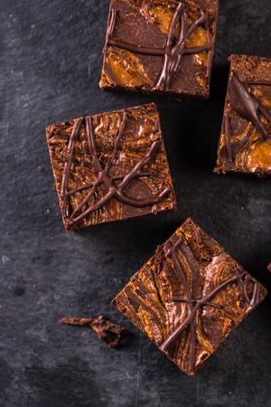 chocolate cakes: Homemade artisan dark chocolate brownies