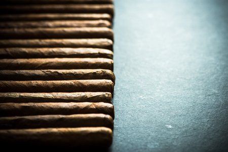 cigars: Cigars border background with copy space Stock Photo
