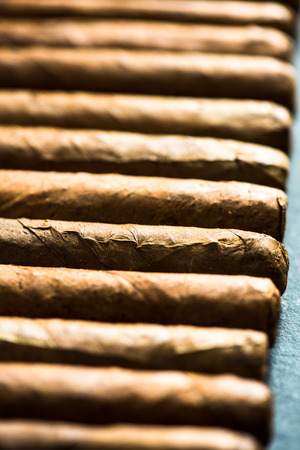 cigars: Cuban cigars background from above