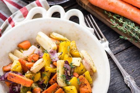 roots: Roasted root vegetables with fresh herbs