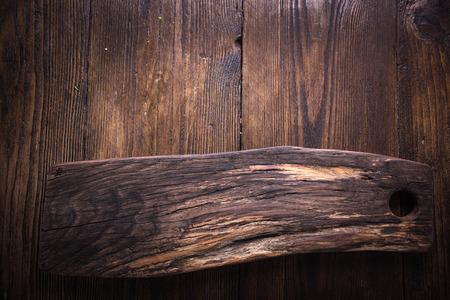 rustic food: Rustic empty chopping board, food background