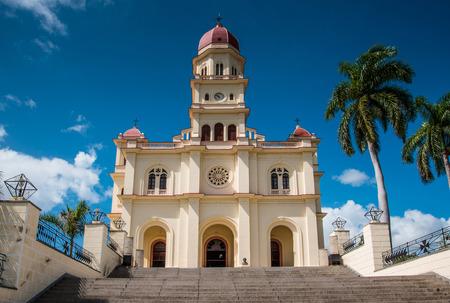 colonial church: Basilica of Saint Virgin el Cobre in Santiago de Cuba, Cuba Stock Photo