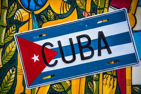 bandera panama: Bandera cubana en el fondo vibrante colorido, desde arriba Foto de archivo