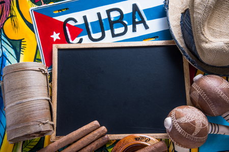 Travel to Cuba concept background with copy space
