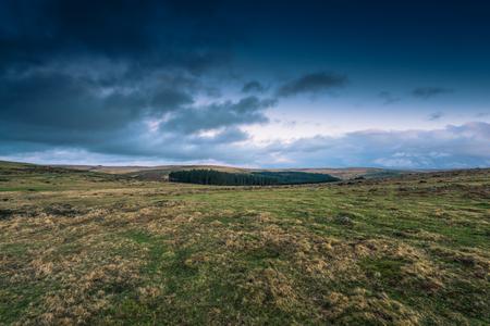 moorland: Dramatic clouds over wild moorland landscape in Devon, UK