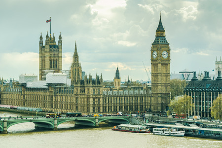 elevated: Palace of Westminster,Parliament in London, elevated view Stock Photo