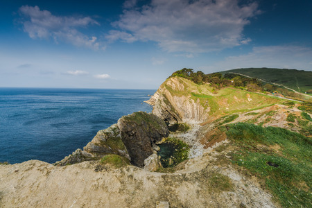 jurassic coast: Dorset cliffs in UK Jurassic coast.