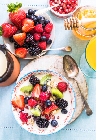 cereal bowl: ligh and fruity brunch, cereal bowl