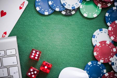 online gambling in casino concept