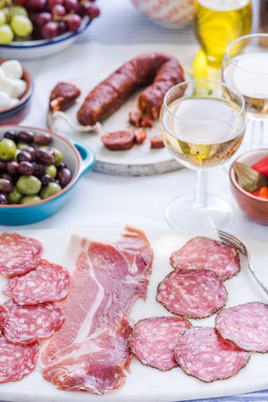 spanish tapas: authentic spanish tapas, traditional food Stock Photo
