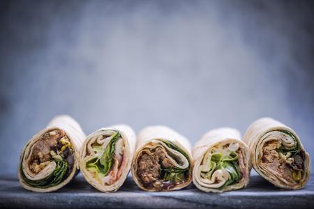 healthy wraps sandwich, mexican food