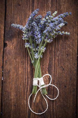 drying: drying fresh lavender, herb and aromatherapy concept