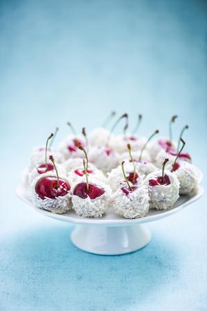 sweet treats: cherries with chocolate, sweet treats