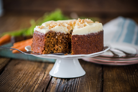 moody: slicing carrot cake, natural moody and soft light image