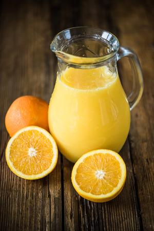 pincher: freshly squeezed orange juice in vintage pincher Stock Photo