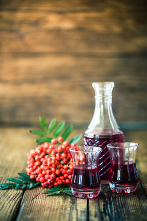 sorbus: Rowanberry natural tincture for winter, with ashberry fruits