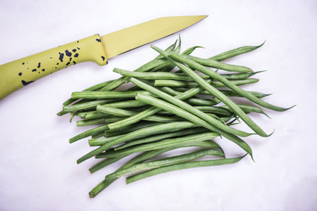 Green Savannah beans strings Stock Photo