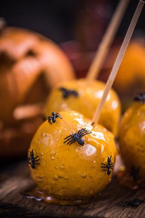 Apple candy Halloween sweet treat, spooky party food