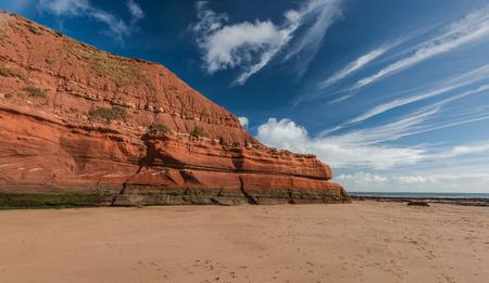 Beautiful yet dramatic cliff at Jurassic coast in england heritage site, Devon,UK