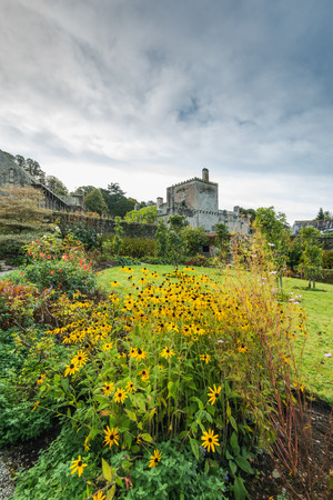 Autumn garden colors in Buckland Abbey,UK British heritage site.
