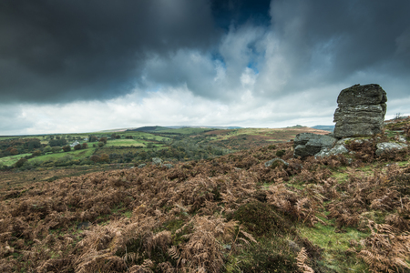 overcast dense clouds over Moors, British weather for outdoor adventures