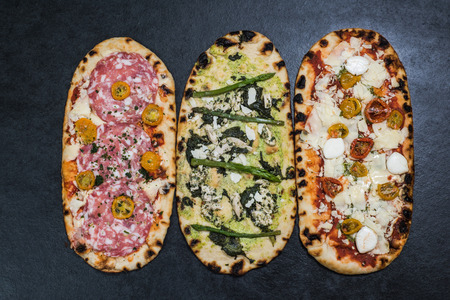 woodfired: alternative pizza fillings and ingredients on thin healthy crust