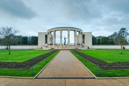 Amerikaanse Begraafplaats in Normandië Monument van gevallen soldaten, Frankrijk Stockfoto