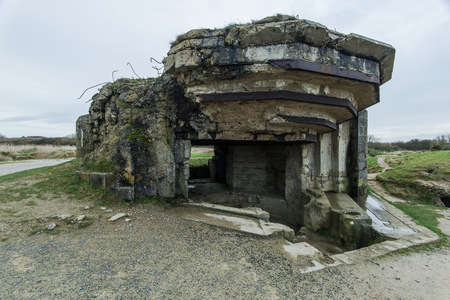 world war ii: Pointe Du Hoc in Normandy, site of the Ranger invasion during World War II in France Editorial