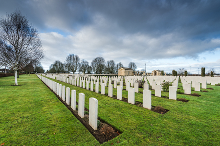 British and Commonwealth World War Two Cemetery in Bayeux, Normandy,France