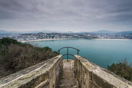 Viewing vantage point in San Sebastian,Spain Basque country.