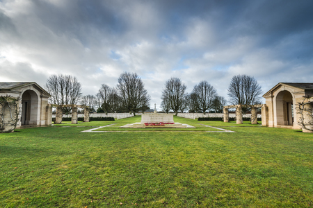 British and Commonwealth World War Two Cemetery in Bayeux, Normandy,France Stock Photo