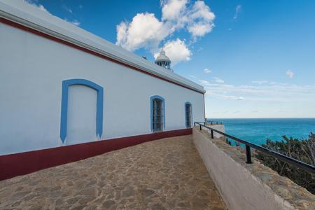 Faro near Albir in Alicante province, Spain at sunny day on Costa Blanca