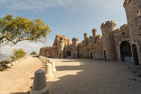 Fort in Cabo Tinoso Cartagena Guns near Mazarron Murcia Spain at sunny day. Stock Photo