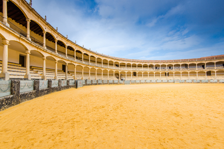 Bullring in Ronda, one of the oldest and most famous bullfighting arena in Spain. Redakční
