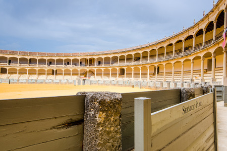 Bullring in Ronda, one of the oldest and most famous bullfighting arena in Spain. Editorial