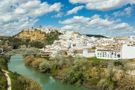 Arcos de la Frontera village on hill, Spain Stock Photo