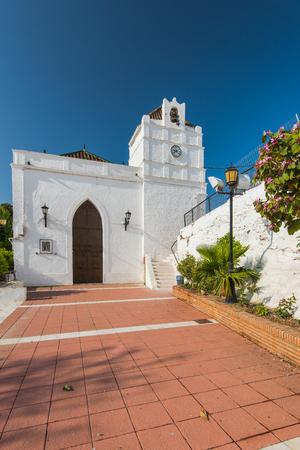 Arquitectura histórica en Maro cerca de Nerja, España. Pueblo pintoresco en Andalucía. Foto de archivo - 78120982