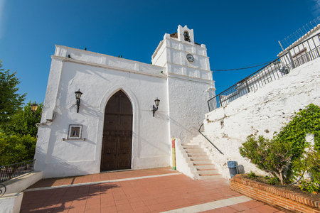 Historic architecture in Maro near Nerja,Spain. Picturesque village in Andalusia.