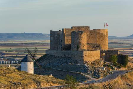 Castle in Consuegra on hill top, Castila La Mancha,Spain Editorial