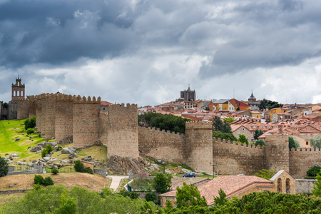 Townscape of Avila in Castile Leone, Spain