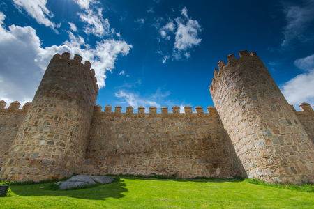 MEdieval walls protect Avila in Spain
