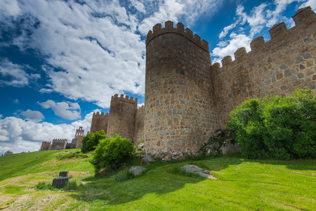Defence walls around Avila town,Spain