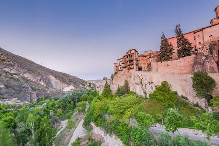 Hanging houses over valley in Cuenca, Spain or Casas Colgadas