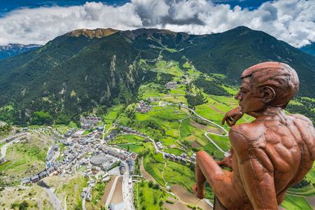 전망대 Roc Del Quer, Andorra. 스톡 콘텐츠