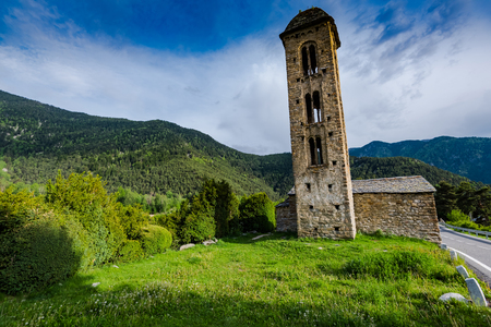 Church of  Sant Miquel Engolasters in Andorra.