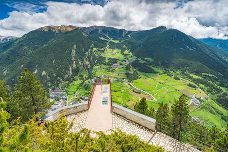 Observation deck in Andorra - Roc Del Quer.