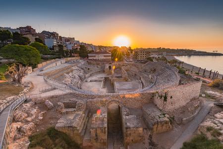 Tarragona Roman Amphitheatre ruins,Spain.