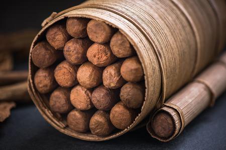 Cubaanse sigaren in traditionele sigarenhouder.