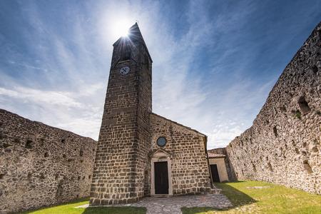 Holy Trinity Church in Hrastovlje, Slovenia. Фото со стока
