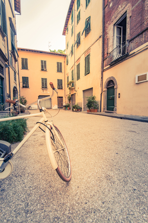Vintage bicycle in Lucca,Tuscany,Italy.